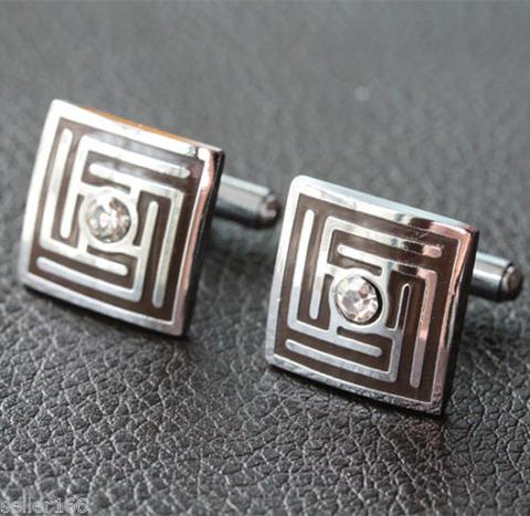 Crystal Greek Labyrinth Cufflinks - 3