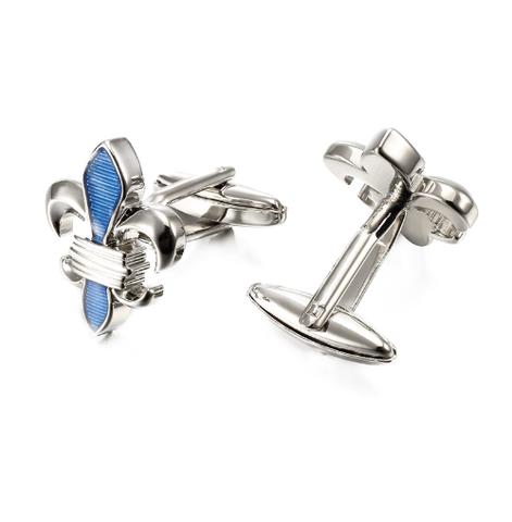 Cufflinks Lepton Blue Fleur De Lis - 3
