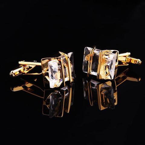 Gemstone Gold Metal Cufflinks - 3