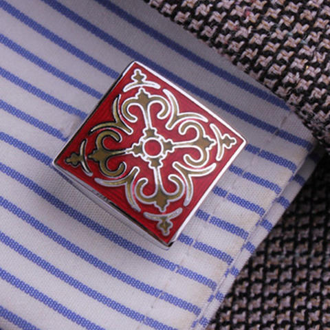 Cufflinks Wedding Red - 3