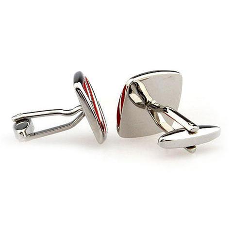 Red Flow Cufflinks - 3