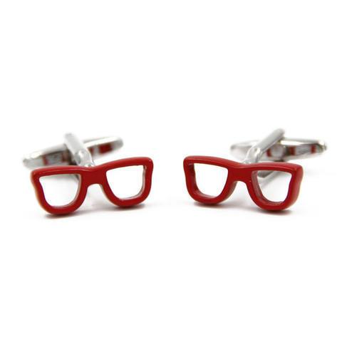 Cufflinks red glasses - 3