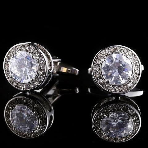 Luxury Bright Crystal Cufflinks - 3