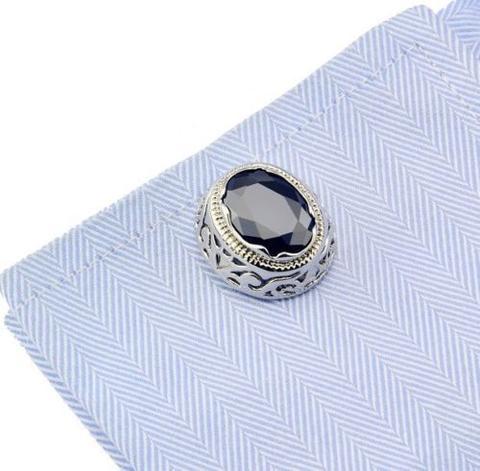 Dragon Eye Circular Ornament Cufflinks - 3