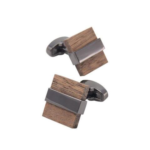 Cufflinks Wood Squares - 3