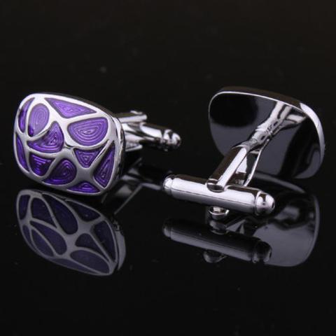 Violet Mosaic Cufflinks - 3