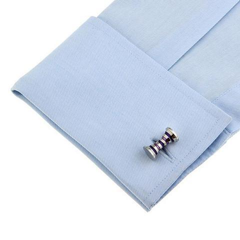 Purple and Blue Polka Dots Cufflinks - 3