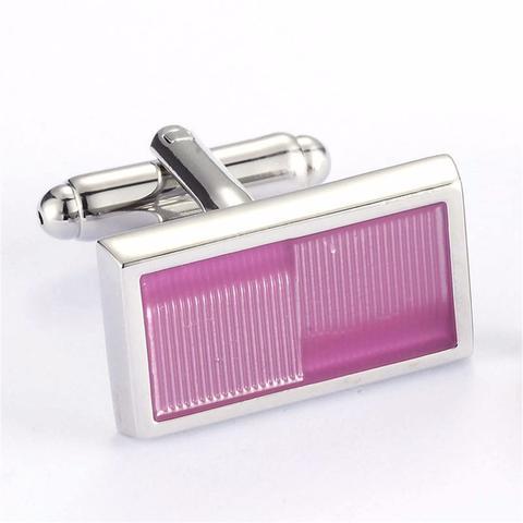 Light Violet Rectangle Cufflinks - 3
