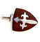 Medieval Burgundy Shield Cufflinks - 3/4
