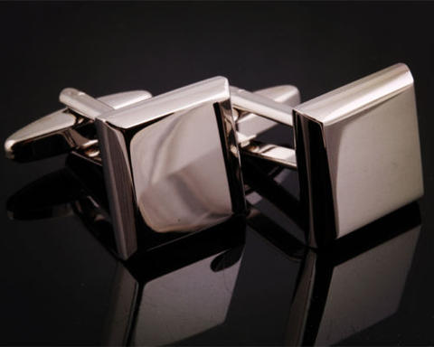 Bevelled Edge Square Cufflinks - 3