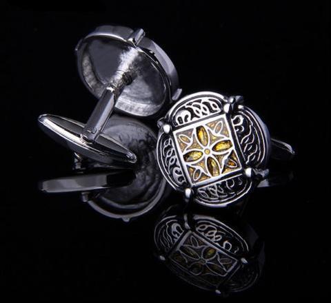 Wedding Gold Ornament Cufflinks - 3