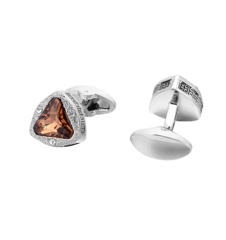 Cufflinks amber triangle - 3