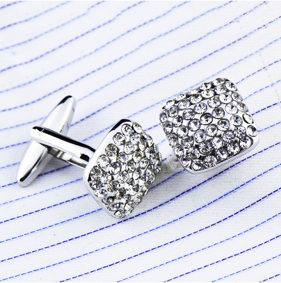 Rectangle Bright Crystals Cufflinks - 3