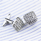 Rectangle Bright Crystals Cufflinks - 3/3