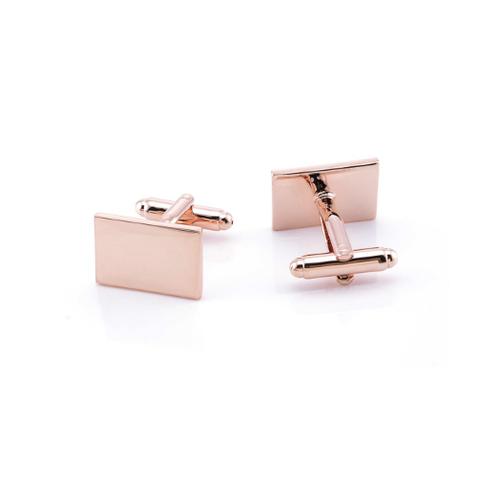 Cufflinks rectangle copper color - 3