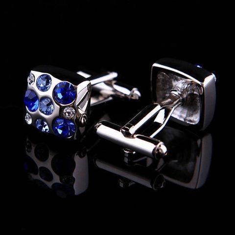 Big Blue Swarowski Element Cufflinks - 3