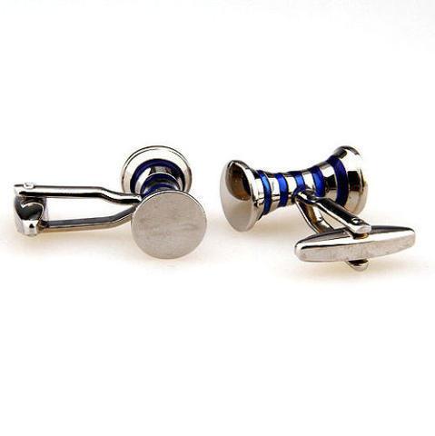 Blue Stripes Spool Cufflinks - 3