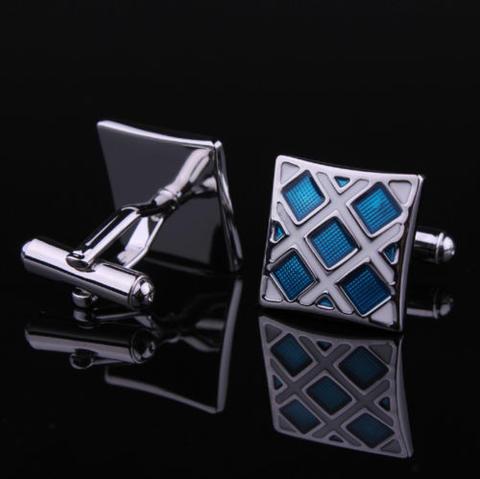 Luxury Blue Crystals Cufflinks - 3