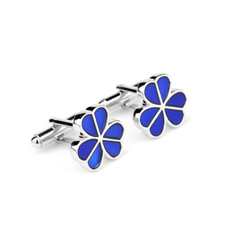 Blue Shamrock Cufflinks - 3