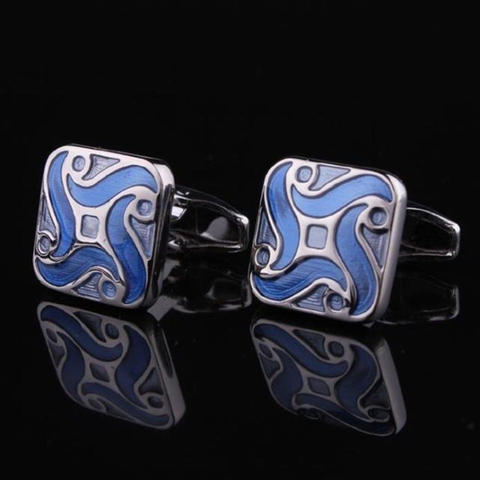 Blue Demon Flower Cufflinks - 3