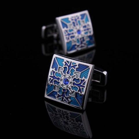 Blue Blossom Cufflinks - 3