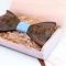 Wooden cufflinks with Amfora bow tie - 3/4