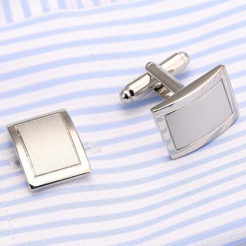 Fine Silver Metal Cufflinks - 3