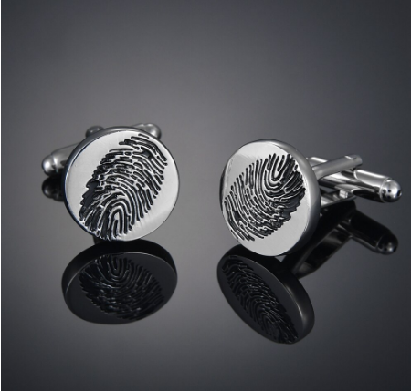 Fingerprint cufflinks - 3
