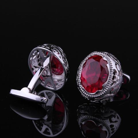 Vintage Ruby Eye Cufflinks - 3