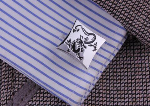 Silver Chinese Dragon Cufflinks - 3