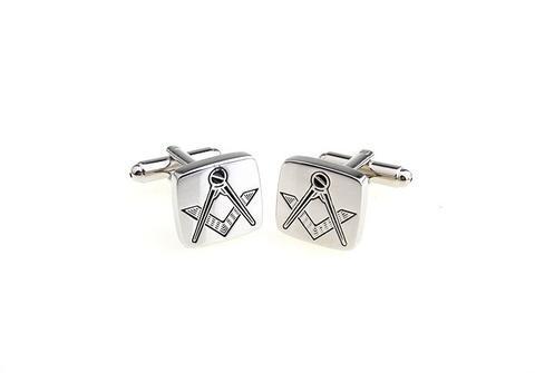 Cufflinks free mason silver - 3
