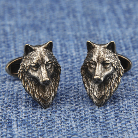 Cufflinks wolf head - 3
