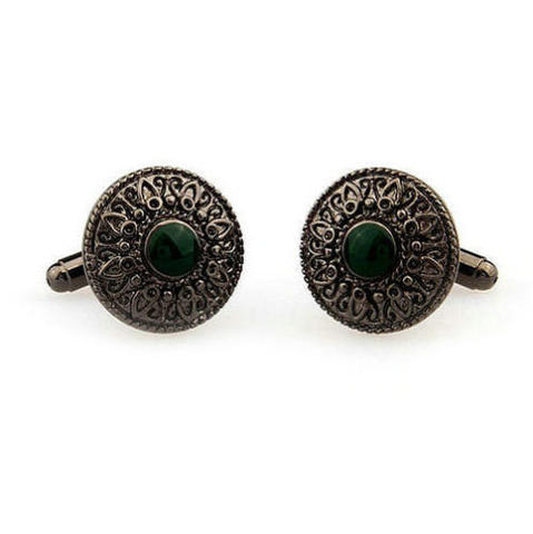 Vintage Green Eye Cufflinks - 3