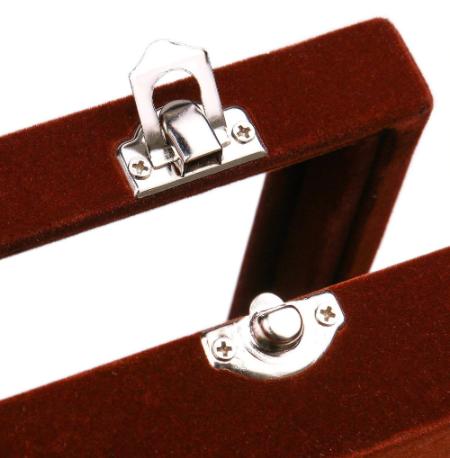 Black Cufflink Box - for three pairs - 3