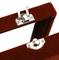 Black Cufflink Box - for three pairs - 3/4