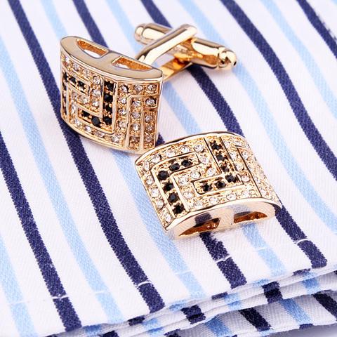 Luxury Rectangle Swarowski Element Cufflinks - 3