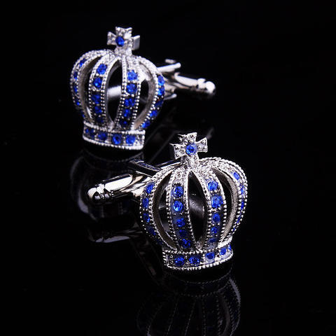 Blue Royal Crown Cufflinks - 4