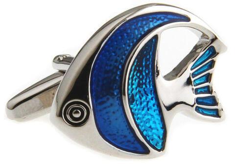 Little Blue Fish Cufflinks - 4