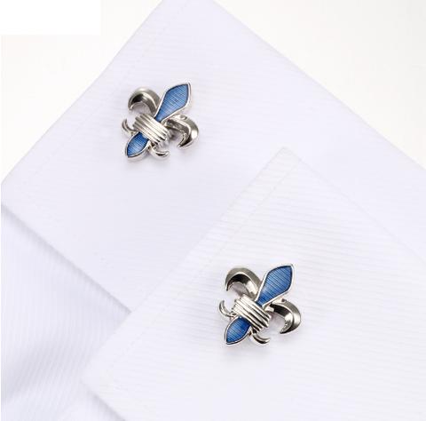 Cufflinks Lepton Blue Fleur De Lis - 4