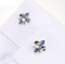 Cufflinks Lepton Blue Fleur De Lis - 4/4