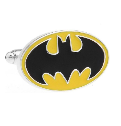 Enamel Yellow Batman Logo Cufflinks - 4