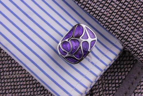 Violet Mosaic Cufflinks - 4