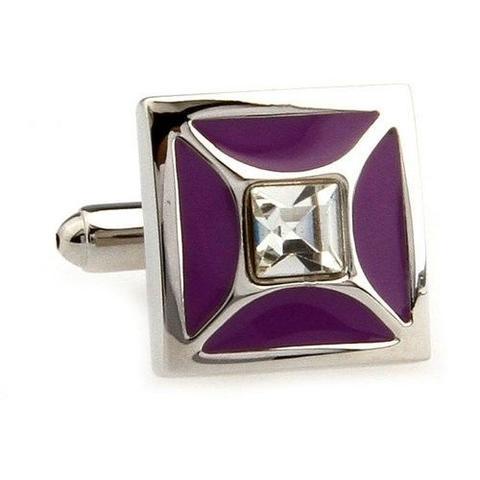 Purple Elegant Cufflinks - 4