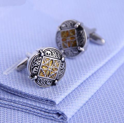 Wedding Gold Ornament Cufflinks - 4