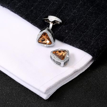 Cufflinks amber triangle - 4