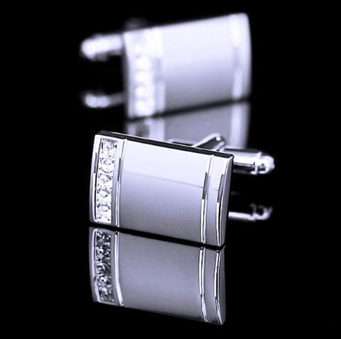Cufflinks for engraving with stones - 4