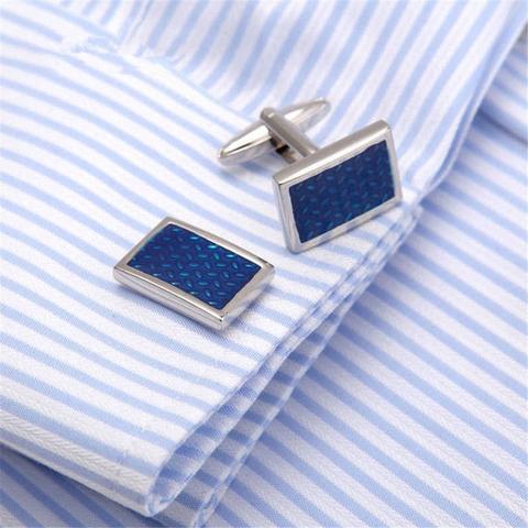 Cufflinks with tie clasp antique pattern - 4