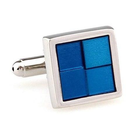 Blue Squares Cufflinks - 4