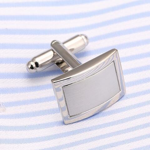 Fine Silver Metal Cufflinks - 4