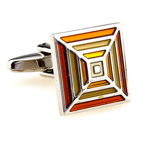 Orange Rainbow Cufflinks - 4